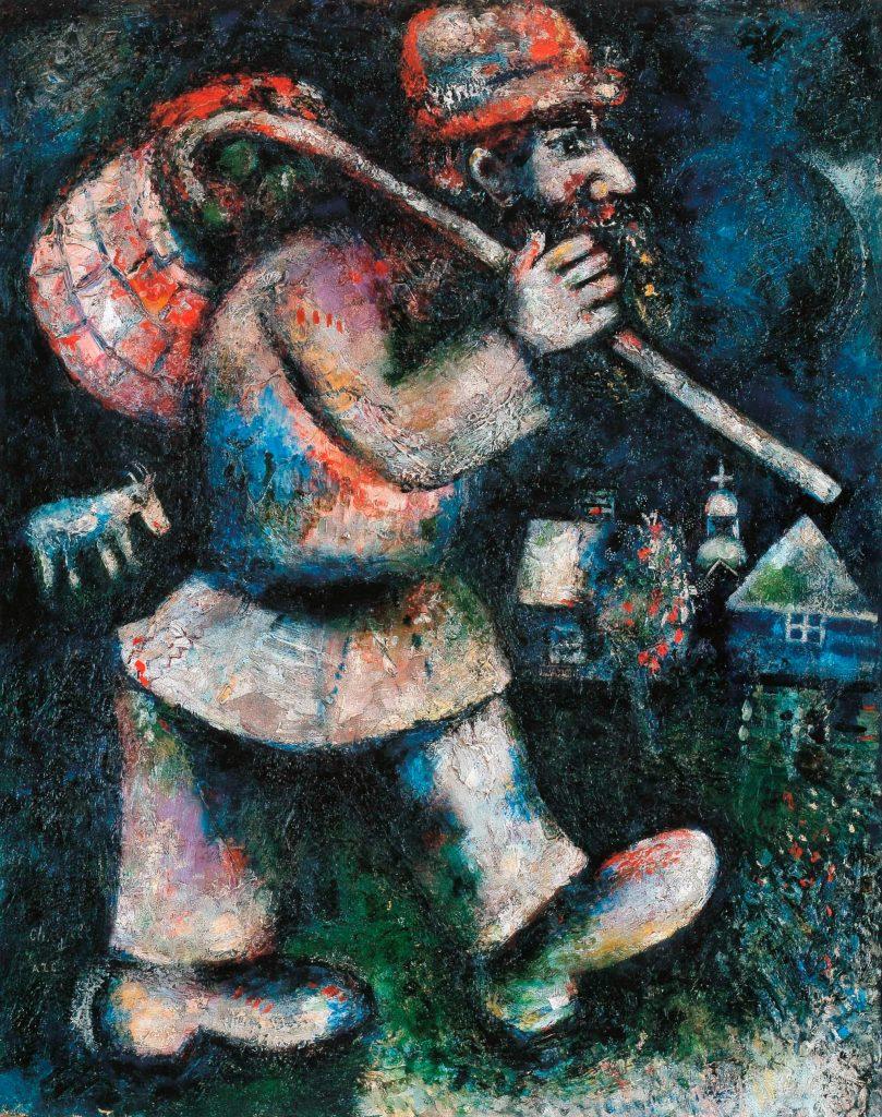 Marc Chagall, En route ou Le Juif errant, 1923-1925, Γενεύη, Association des Amis du Petit Palais